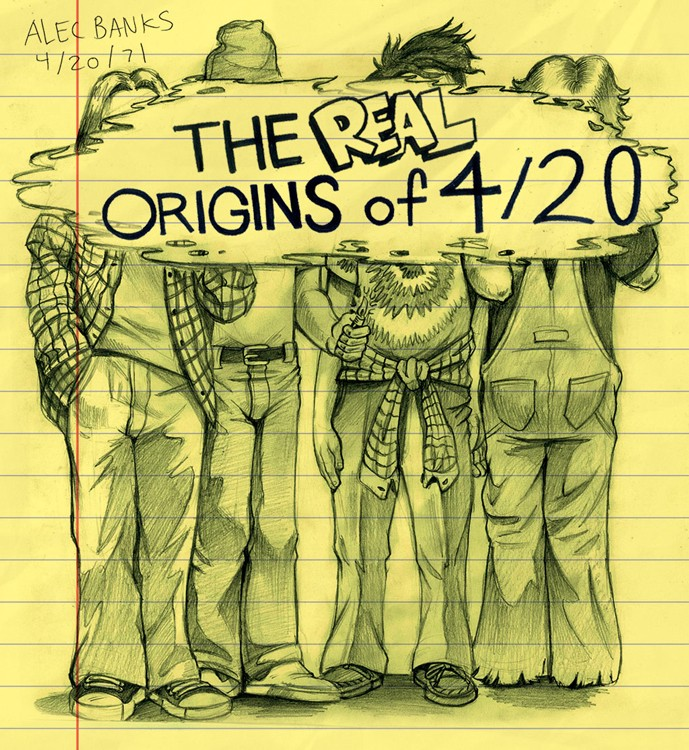 The Real Origins of 420 comic drawing